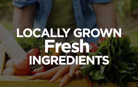 Locally Grown Fresh Ingredients banner