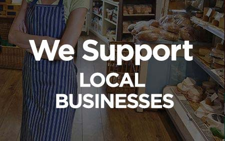 We Support Local Businesses banner