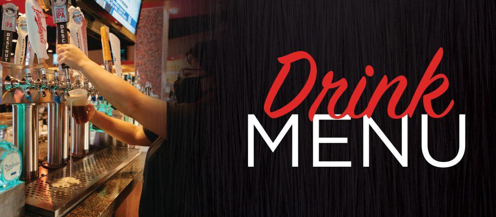 Drink menu banner